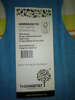 Habitat ticket