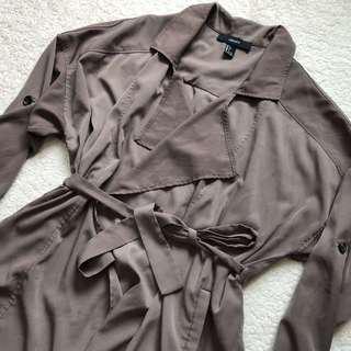 F21 Olive Green Kimono Blazer