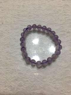 🚚 薰衣草紫髮晶8mm手珠