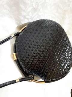 Repriced! Rodo black gold italian shoulder bag