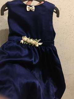 Dark blue dress for Baby girl 18-24 months