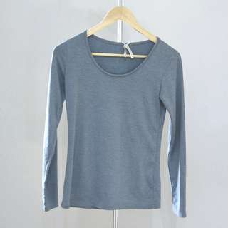 SALE PROMO Light olive long sleeve top