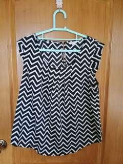 Corporate geometric blouse