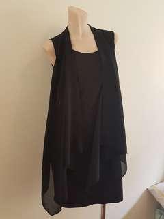 Black layer dress size 8