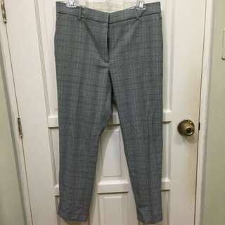 H&M Plaid Trouser