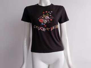 CHRISTIAN DIOR BOUTIQUE J'ADORE EMBROIDERED S/S TOP *RARE PIECE