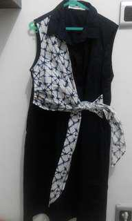 Cotton Ink Navy Shibori Dress