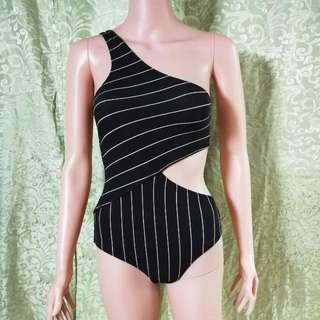H&M One Side Striped Swimsuit