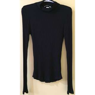 H&M Turtleneck Ribbed Top