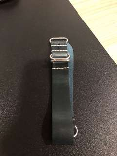 Fossil Blue Leather Nato Strap 22mm