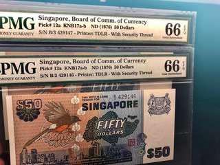 $50 Bird Series PMG 66EPQ Pair