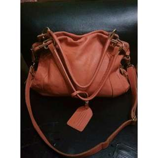 Peach Pink Genuine Leather Bag from Australia rarely used & still in excellent condition 😍