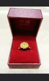 金器 仿金花戒指 金花介指 連六福盒 敬茶 裙褂 fake golden ring