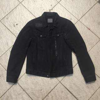 Zara ripped jacket sz M