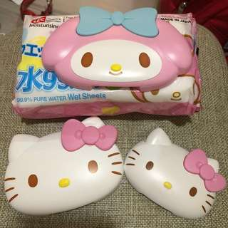 Hello Kitty My Melody 濕紙巾蓋(每個)