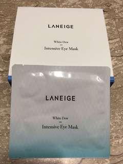 🚚 Laneige White Dew Intensive Eye Mask x 8pcs