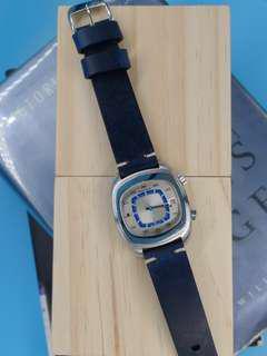 1970s Vintage Jaeger Lecoultre Memovox Alarm Automatic Date Men's Wrist Watch