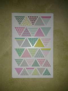 Triangle Sticker Sheet (30 Triangles per Sheet)