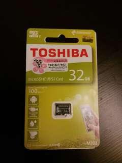 東芝Toshiba MicroSDHC UHS-I card 32GB