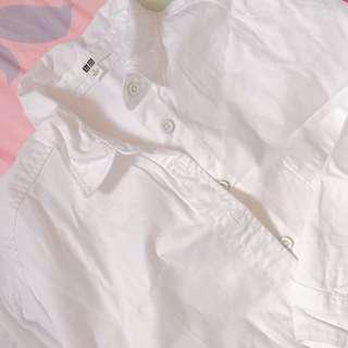 長白色恤衫