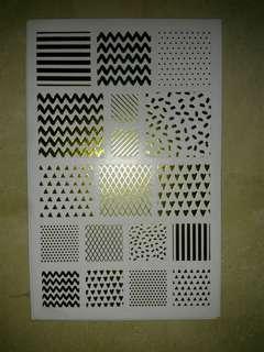 Shiny Square Sticker Sheet