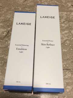 🚚 Laneige Skin Refiner & Emulsion Light Set