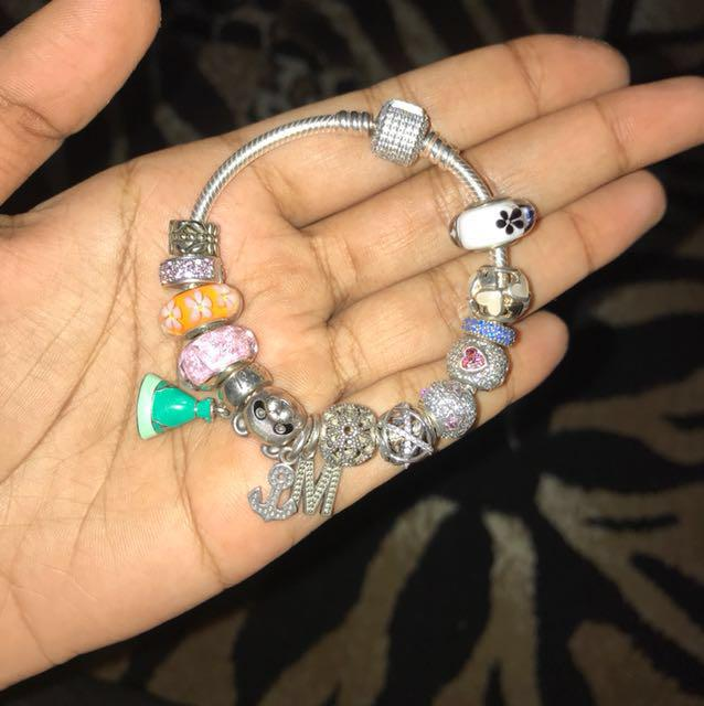 6774011f0105e Authentic Pandora bracelet with charms, Luxury, Accessories on Carousell