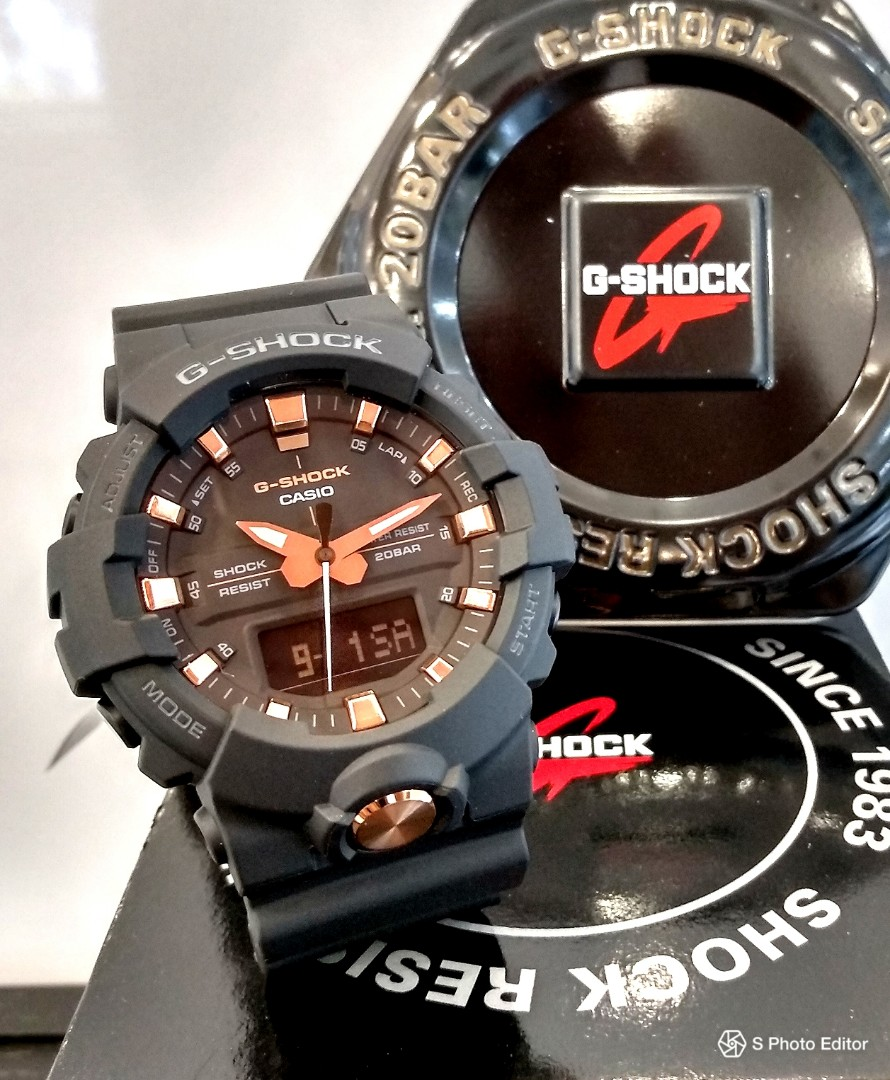 039f07d7e * FREE DELIVERY * Brand New 100% Authentic Casio GShock Mid Size Matt Black  & Rose Gold Trims Unisex Casual Watch GA-810B-1A4DR GA810B, Men's Fashion,  ...