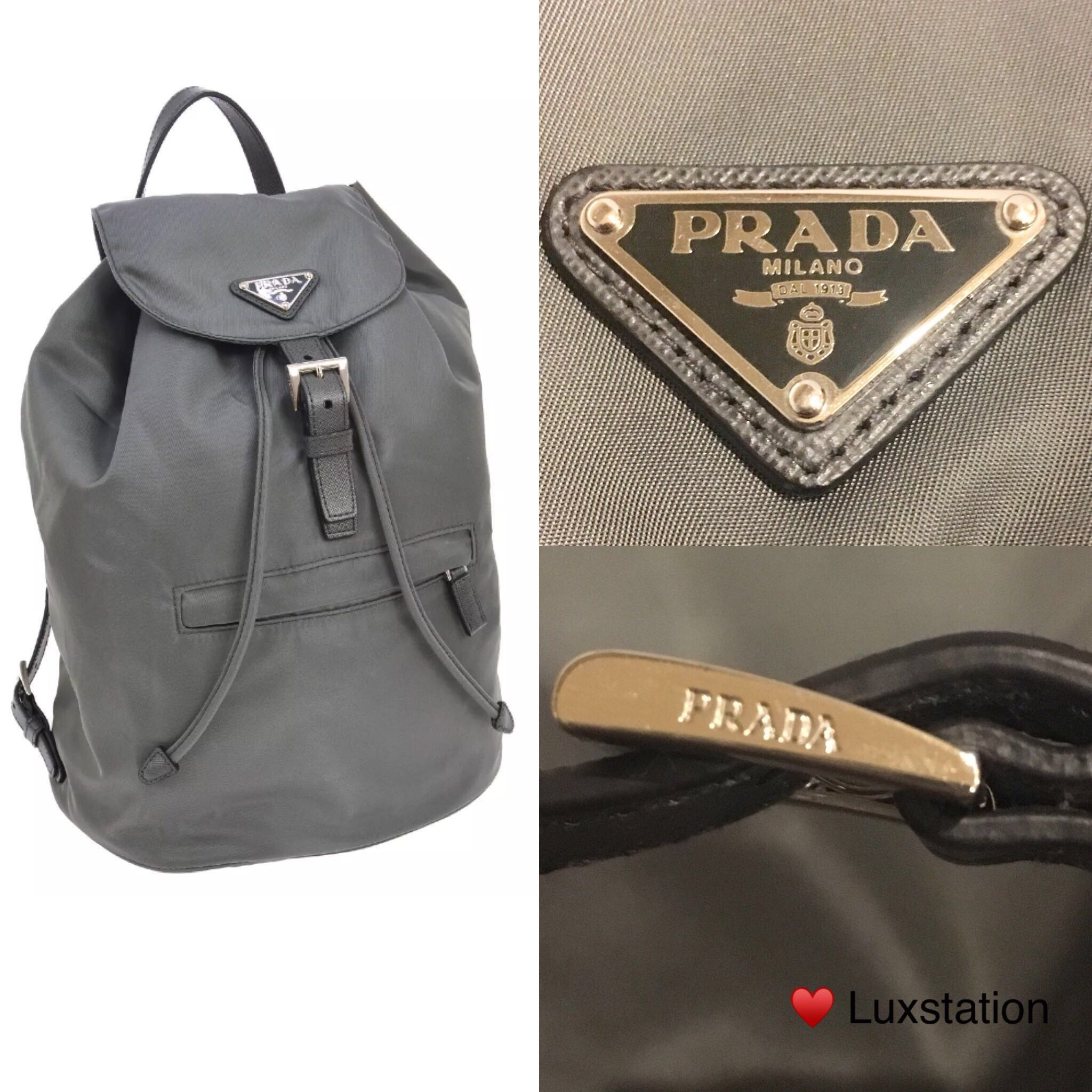 ... usa prada rucksack backpack bz0032 nylon ardesia grey luxury bags  wallets backpacks on carousell fbbc1 082f9 26d8bd8cad7b3