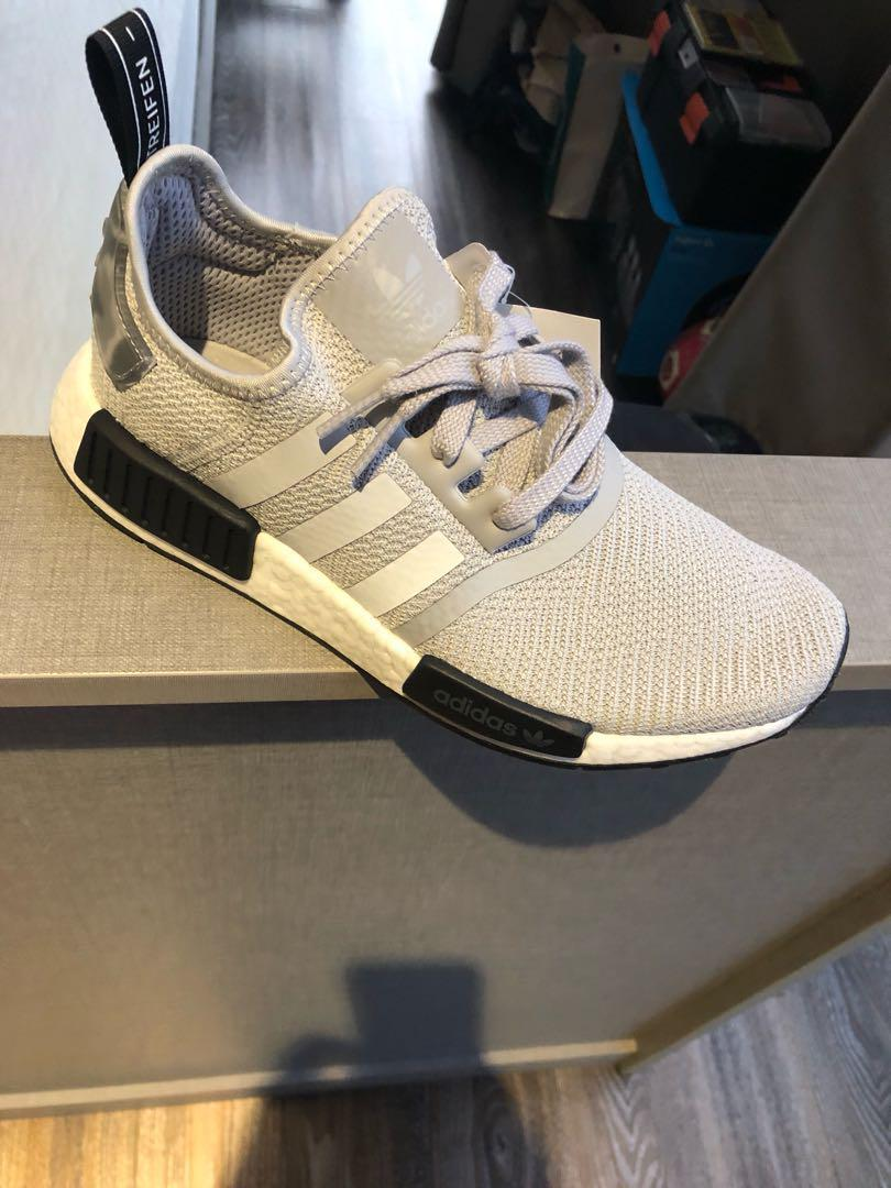 online store 20e2c dce14 Adidas NMD R1 - Light Grey, Men's Fashion, Footwear ...