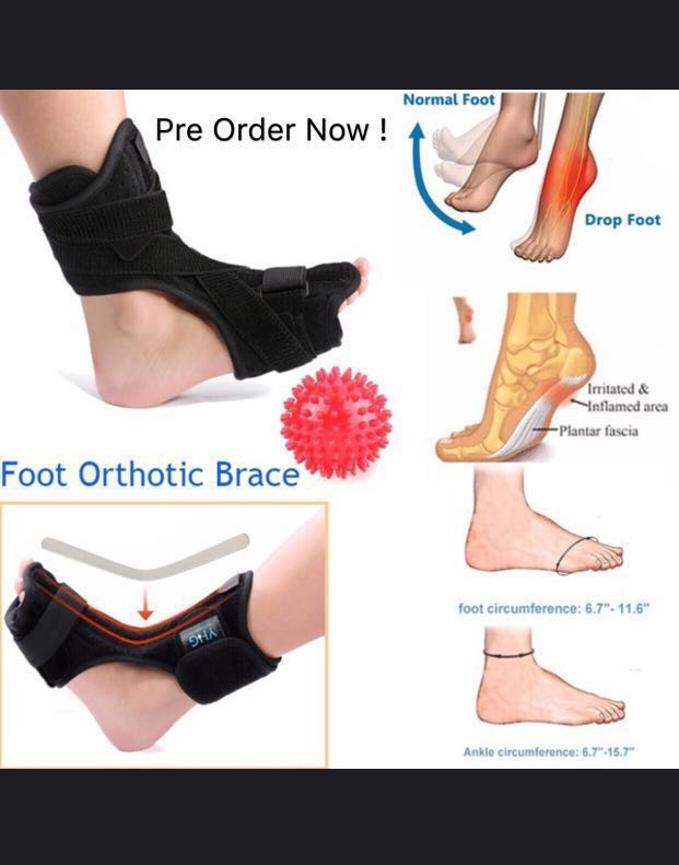 c07a4064fb Adjustable Plantar Fasciitis Foot Drop Brace / Relieve Pain / Support,  Health & Beauty, Hand & Foot Care on Carousell