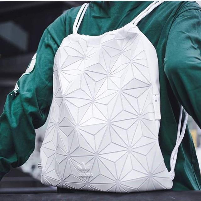 AUTHENTIC Adidas 3D Mesh Issey Miyake Drawstring Bag Gym Sack ... 621f21e832b14