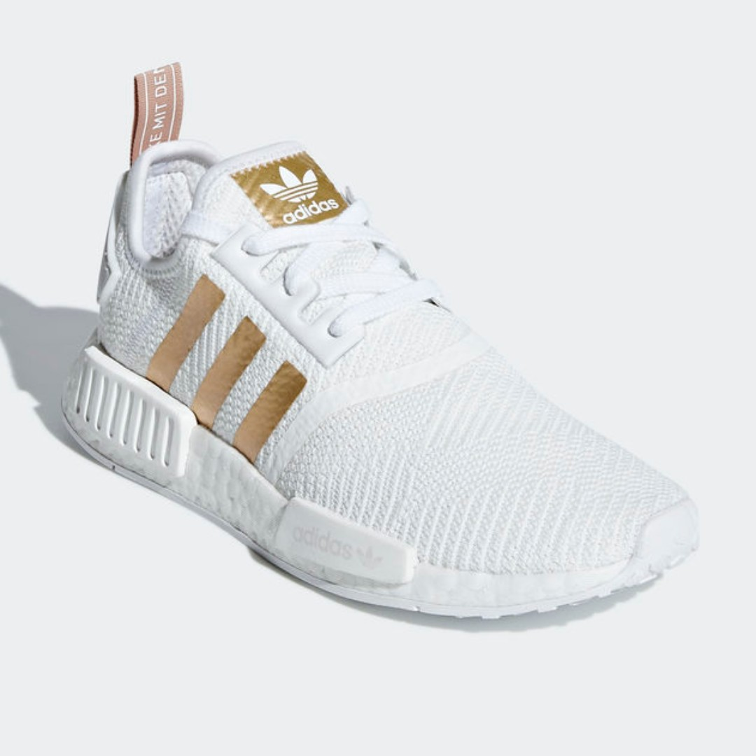 dda980d15 Authentic Adidas NMD R1 White   Gold