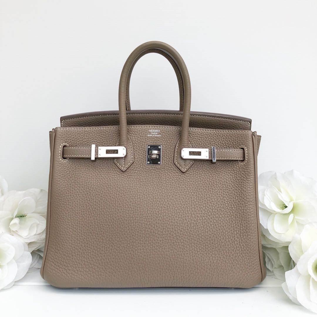 83916cd000 Authentic Preloved Hermes Birkin 25 Etoupe Togo Phw O stamp