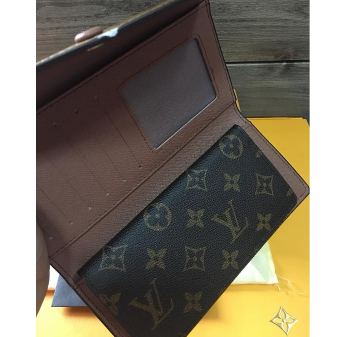 39ba67c7418 Authentic Quality Louis Vuitton Josephine Monogram Canvas Wallet LV Emilie  Trifold Long Wallet Snap Button Lock Women's Wallet, Women's Fashion, ...