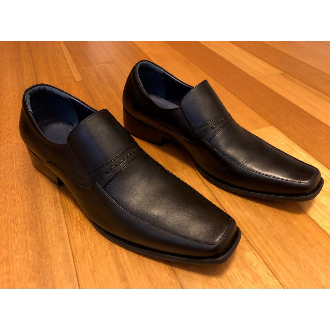 d4fb375fbce96 BN Andre Valentino Black Leather Shoes, Men's Fashion, Footwear ...