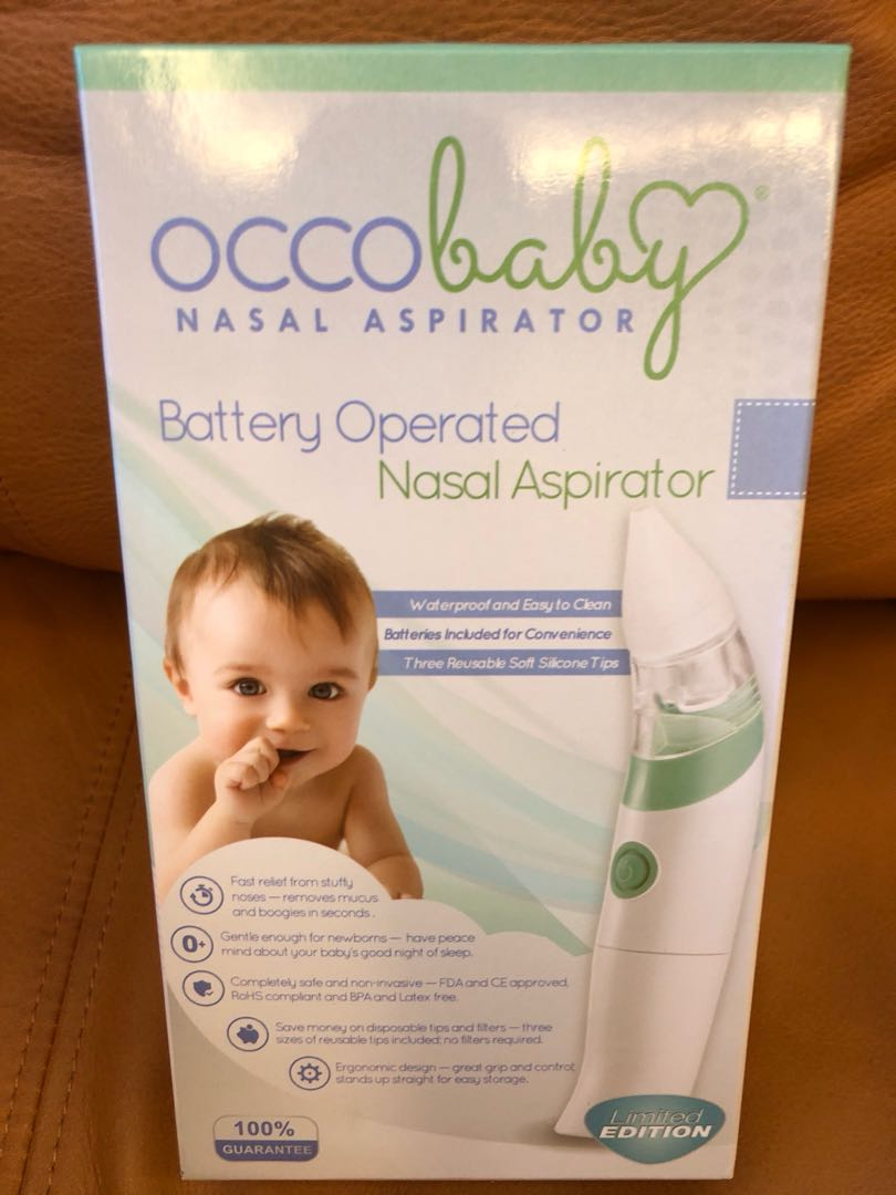 Occobaby Baby Nasal Aspirator Other Baby Safety & Health Safe Hygienic And Quick Battery Operated 100% Original
