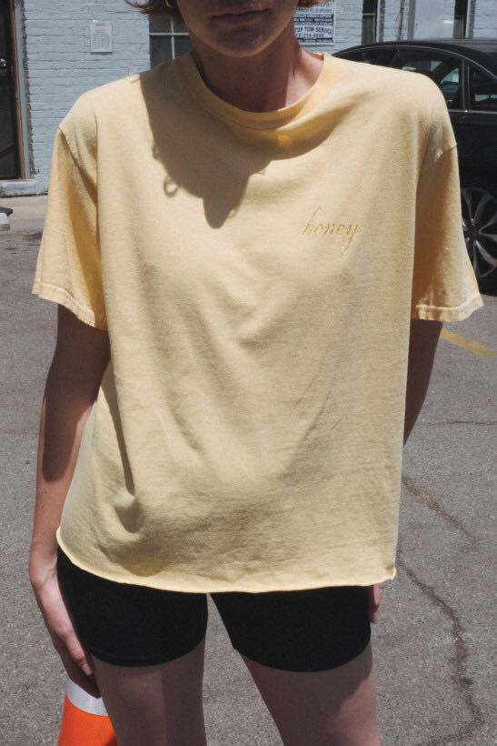 Brandy Melville Yellow Honey Top