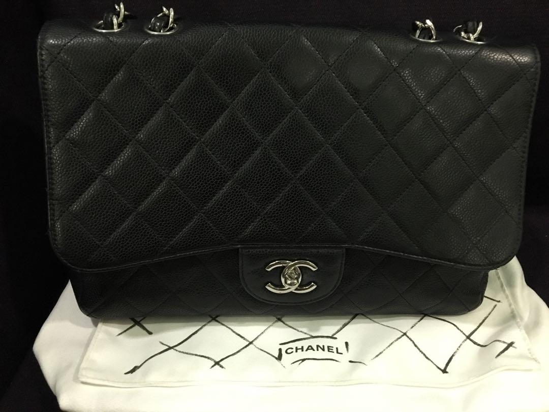 496b69c7febe3b Chanel Classic Jumbo Caviar, Luxury, Bags & Wallets, Handbags on ...
