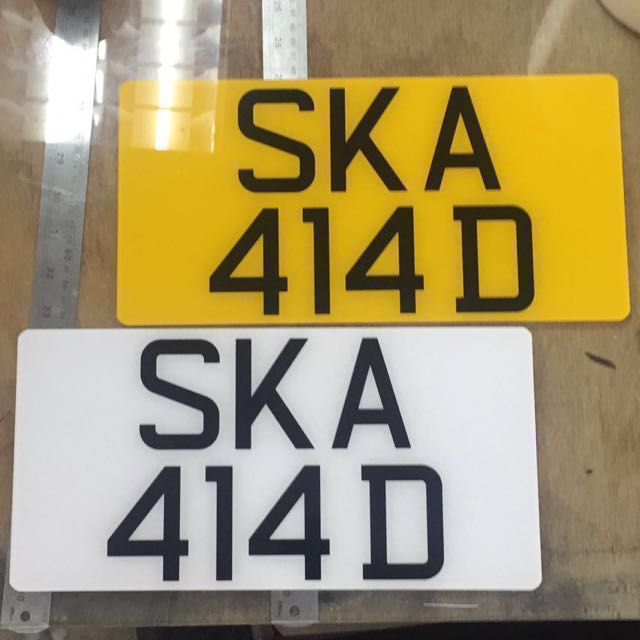 CHEAPEST Acrylic Car Number Plate Maker (custom Size / LTA