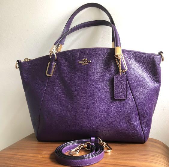 Coach bag - small Kelsey crossbody in purple pebble leather  337733 ... 88287034e0