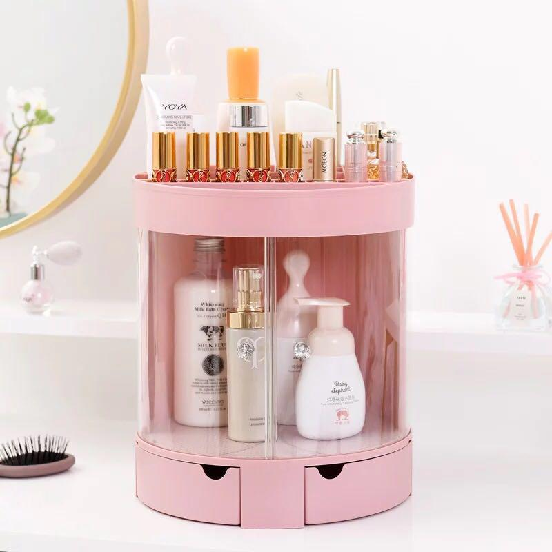 Cosmetic Makeup Container Storage Desk Standing Drawer Home Plastic Organizer