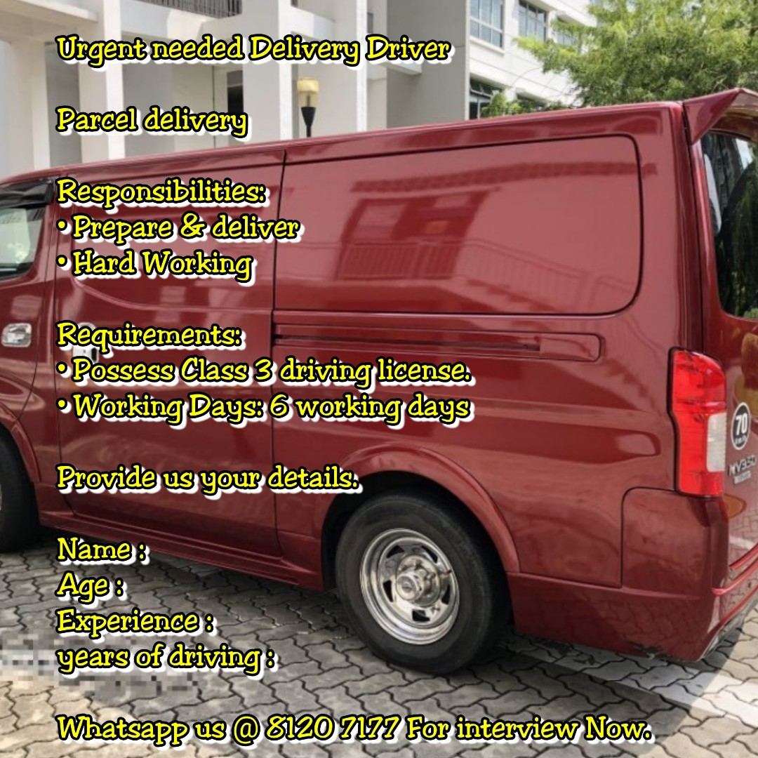 van delivery driver jobs near me