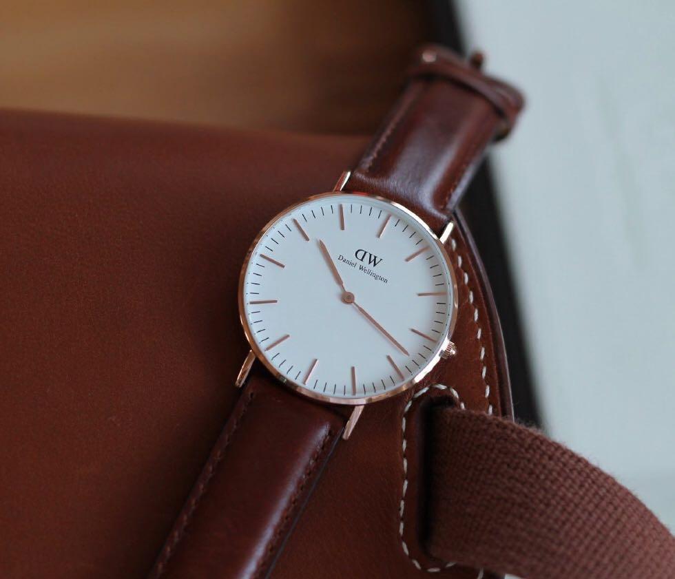 d64d2bb03 DW Watch leather strap original UP $60 (last pc), Men's Fashion ...