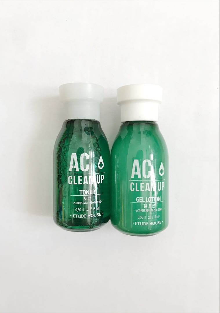 Etude House AC Clean Up Toner & Gel Lotion, Health & Beauty, Skin, Bath, & Body on Carousell