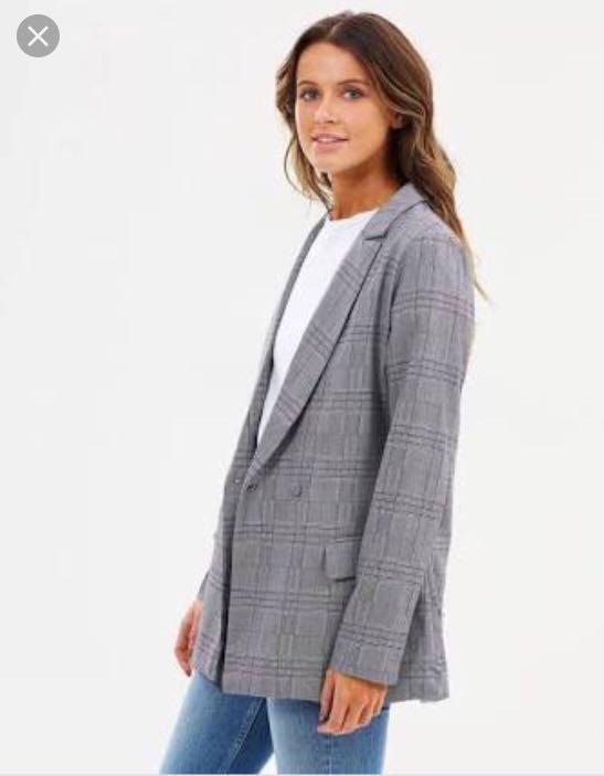 Fifth the label- Cypress check blazer (charcoal check).XS unworn with labels
