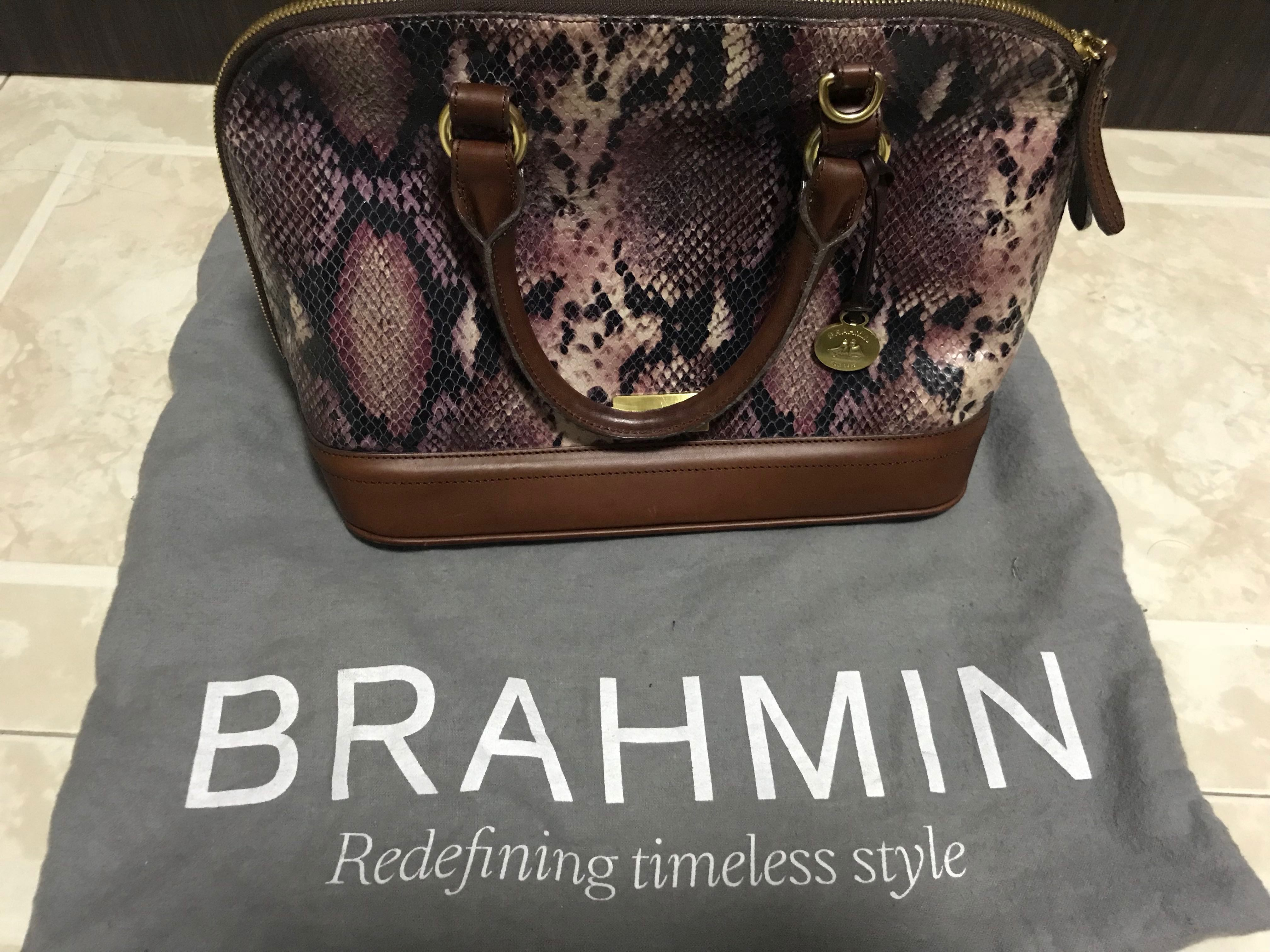 Are Brahmin Bags Real Leather