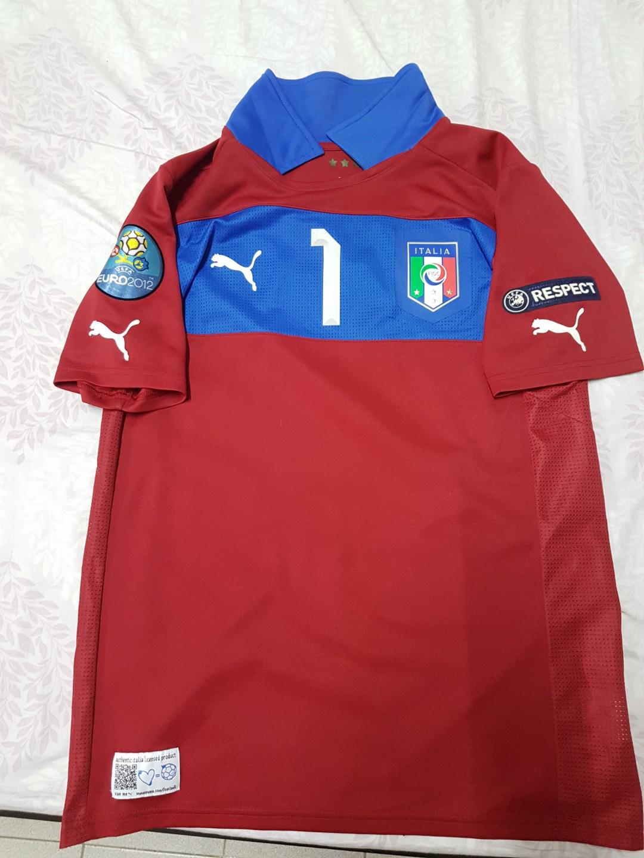 100% authentic 51e59 f11f5 Gigi Buffon Euro 2012 final jersey, Sports, Sports Apparel ...