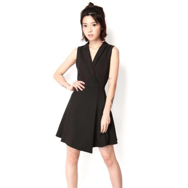fcfc8ec69a16 Clothing Bodycon Dresses Tomlin Black Midi Length Vest Dress. Photo. Hedi Vest  Dress In Black Women S Fashion Clothes Dresses Skirts