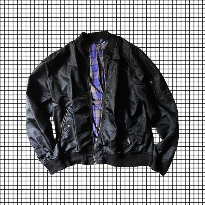 5a41b2a33 H&M Oversized Black Bomber Jacket